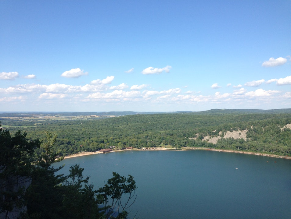 Devil's Lake, View from West Bluff Trail Baraboo Wisconsin United States