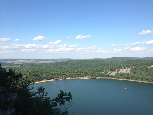 Devil's Lake, View from West Bluff Trail