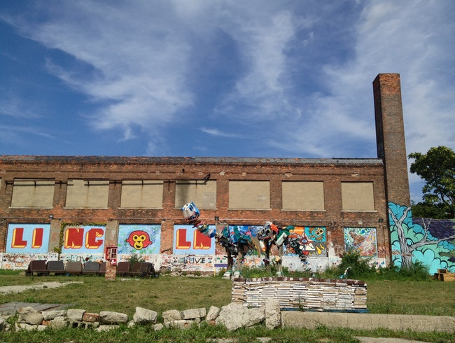 Outdoor Art Exhibit Hidden Away in Midtown Detroit