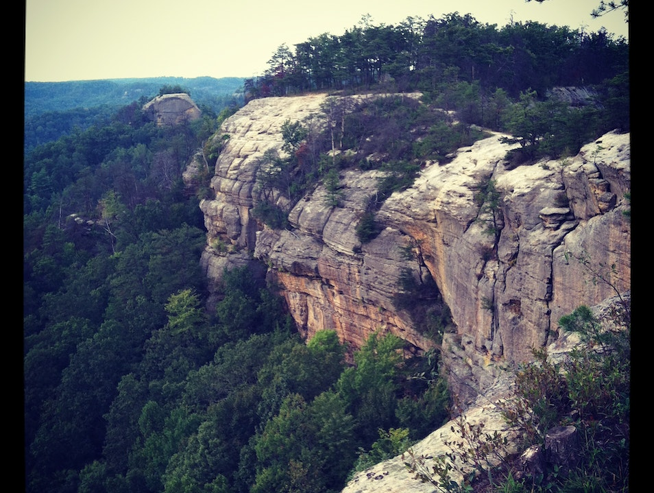 Taking on the cliffs of Red River Gorge Wellington Kentucky United States