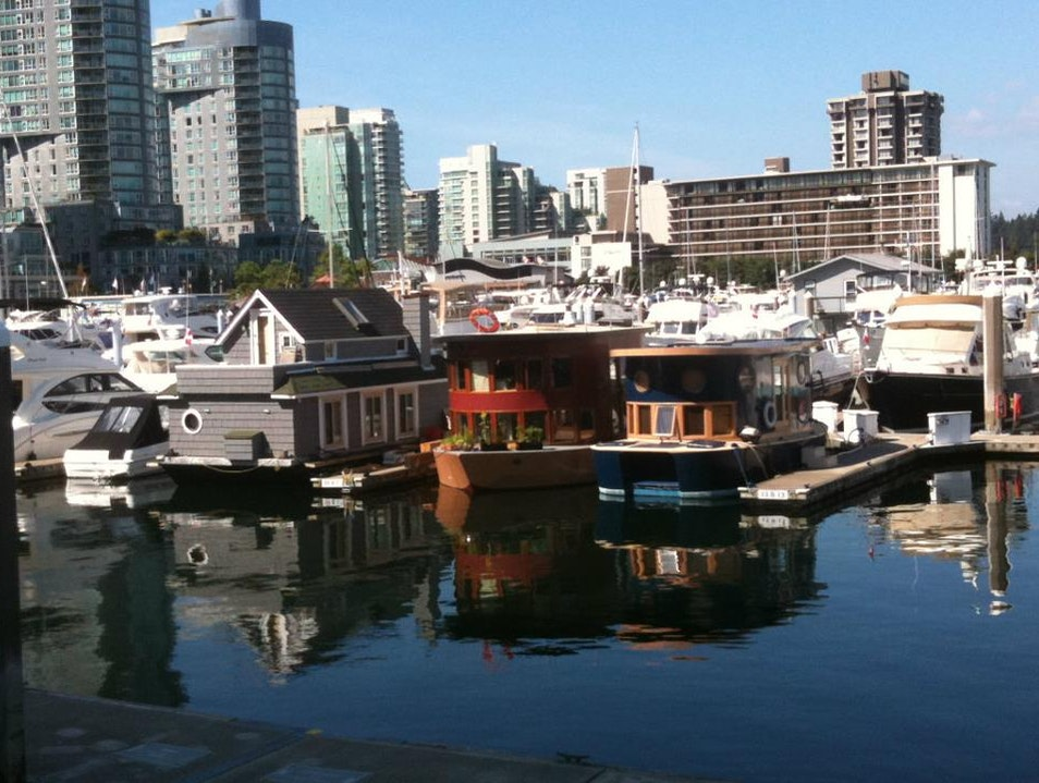 Houseboats at Coal Harbour Vancouver  Canada