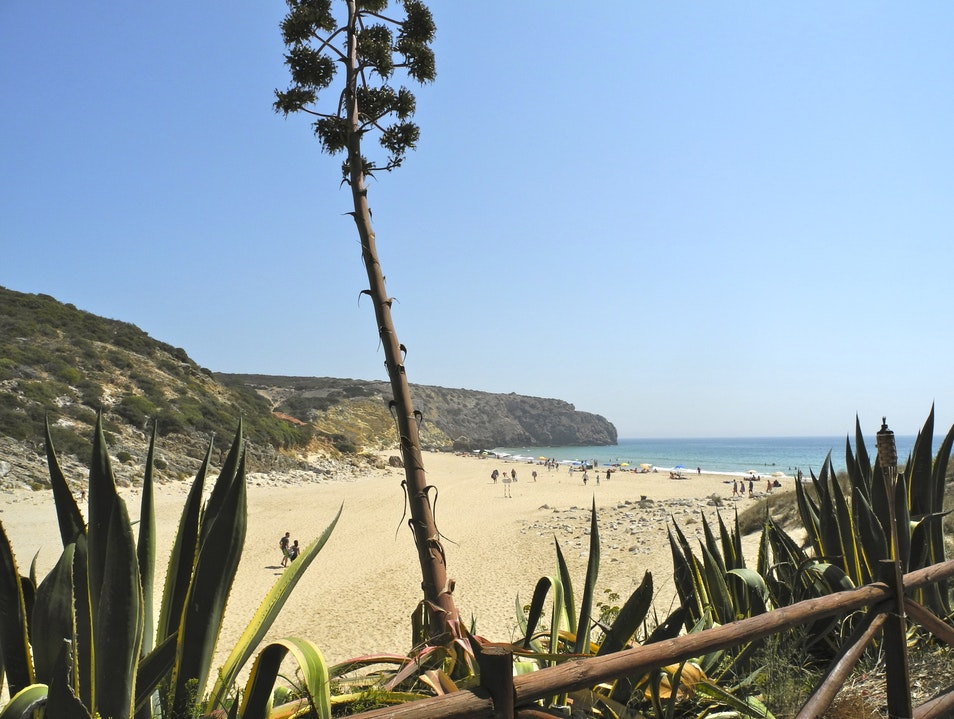 Unspoiled and Serene Zavial Beach Raposeira  Portugal