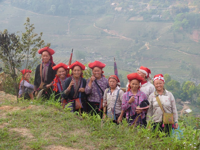 Red Dzao Women In Sapa Vietnam
