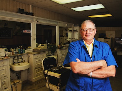 White Swan Barber Shop Sheridan Wyoming United States