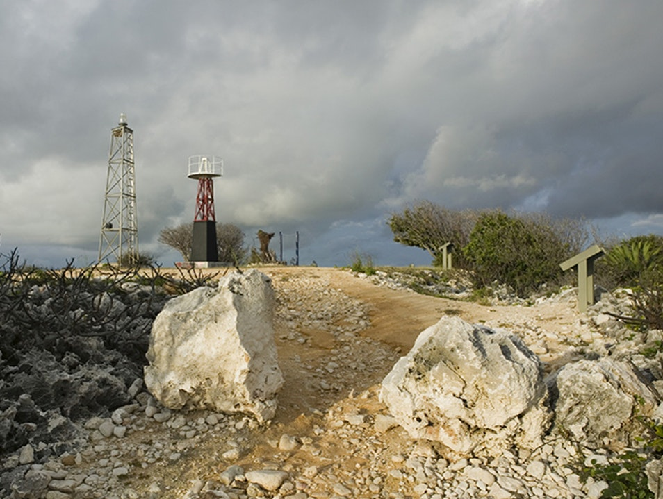 Lighthouse Footpath Sister Islands  Cayman Islands
