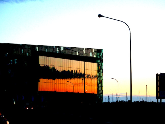 Harpa at sunrise