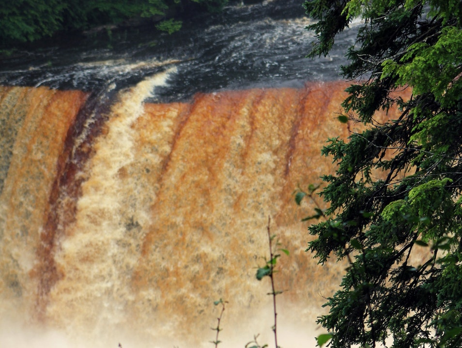 Brown falls in the U.P Boon Michigan United States