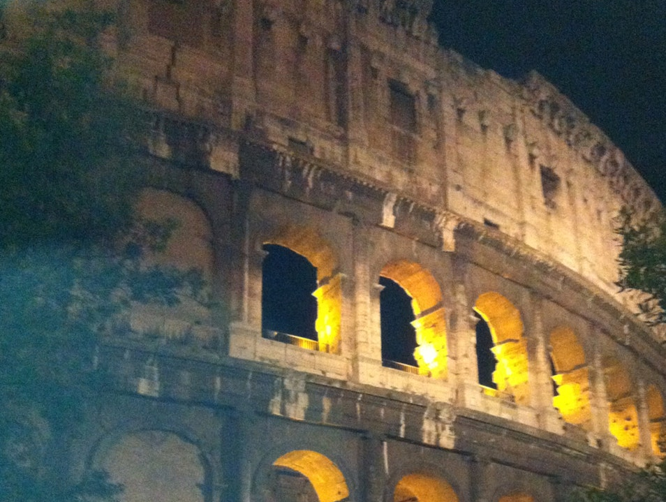 A Night stroll at the past glorious Colosseo Rome  Italy