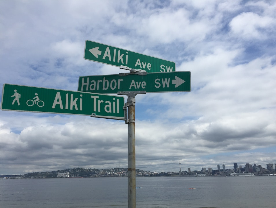 Ride along Alki Beach Seattle Washington United States