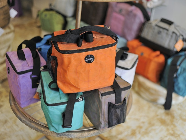 Cambodian bags made from recycled materials