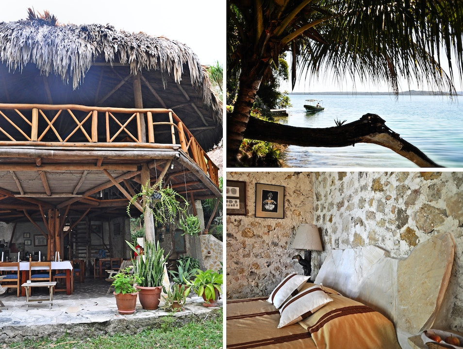 Leave stress behind at this unique retreat Peten  Guatemala