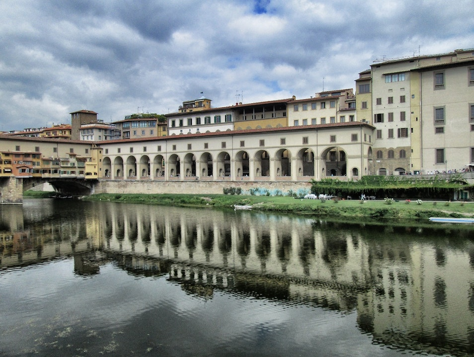 Walking Along the Arno River Florence  Italy