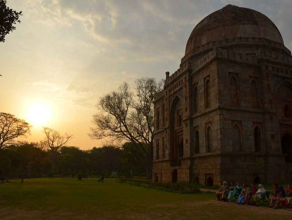 Sunset Stroll in the Lodhi Gardens New Delhi  India