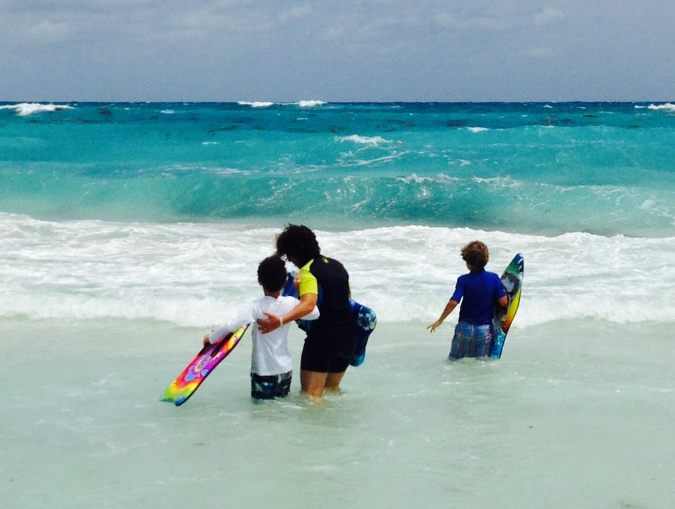 Boogie Boarding! Cancun  Mexico