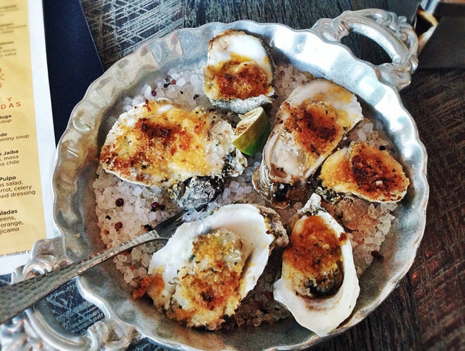 Devour Wood-Roasted Beach Oysters at Caracol Houston Texas United States