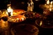 Dining by candle-light Marrakech  Morocco