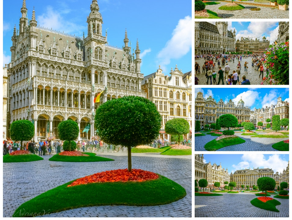 Floralïentime in Grand Place Brussels  Belgium