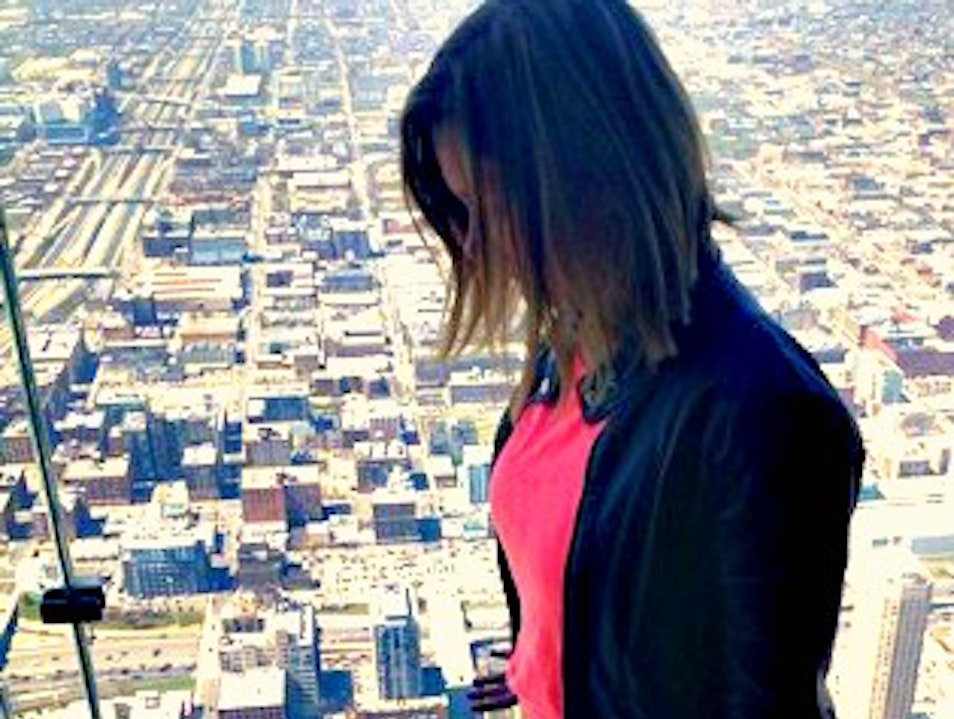 No View Like It: the Ledge at the Skydeck  Chicago Illinois United States