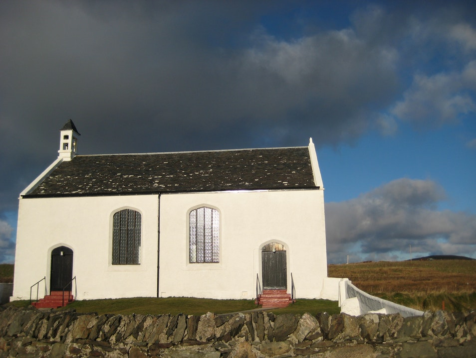 the church of Portnahaven and Port Wemyss...