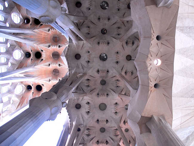 The Amazing Ceiling of the Sagrada Familia
