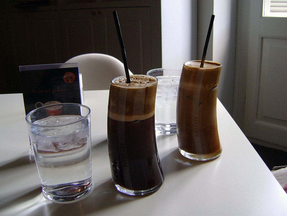 Frappes at Metropolis Athens  Greece