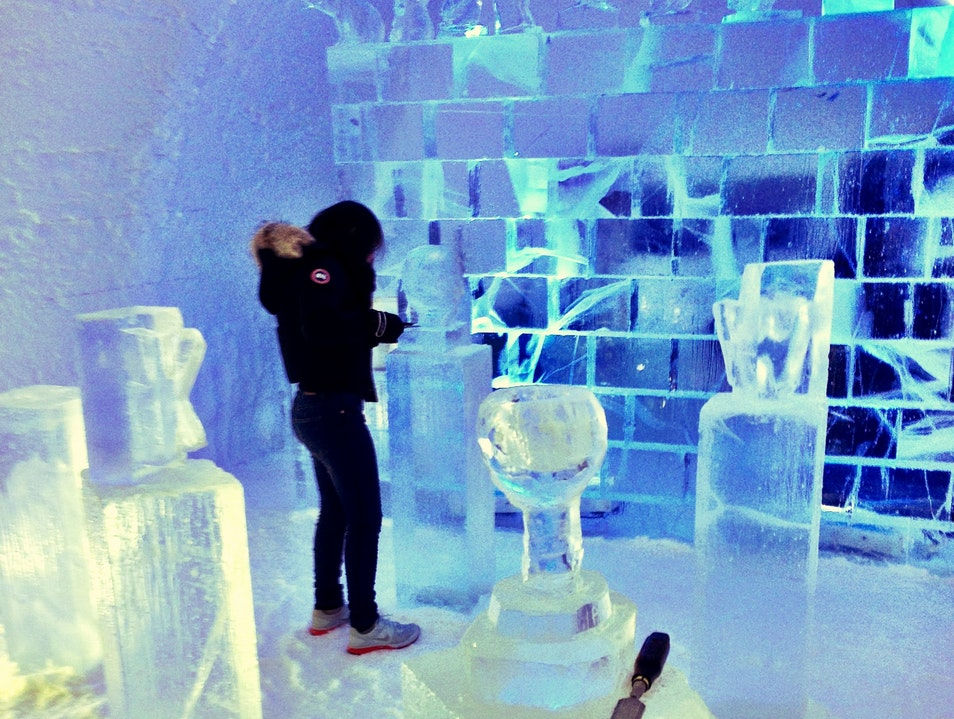 An Ice Sculpting Class in the Arctic Circle Kiruna  Sweden