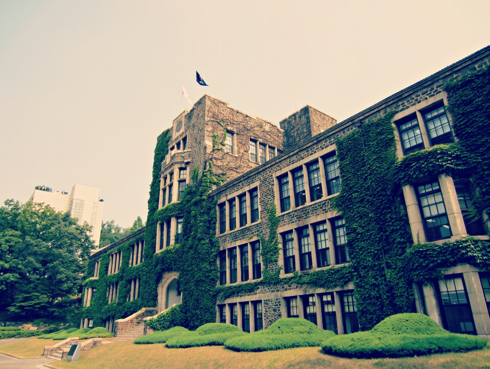 Touring the University of Yonsei Campus