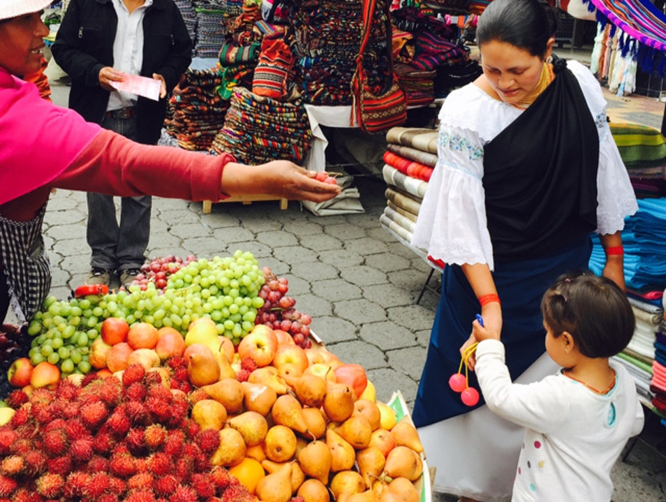 AN EXPLOSION OF COLORS, CRAFTS AND COMIDA  Otavalo  Ecuador