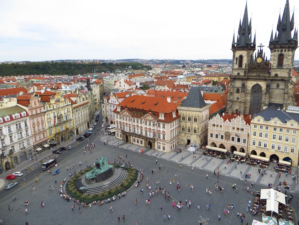 View from the Top of Old Town Hall Tower Prague  Czech Republic