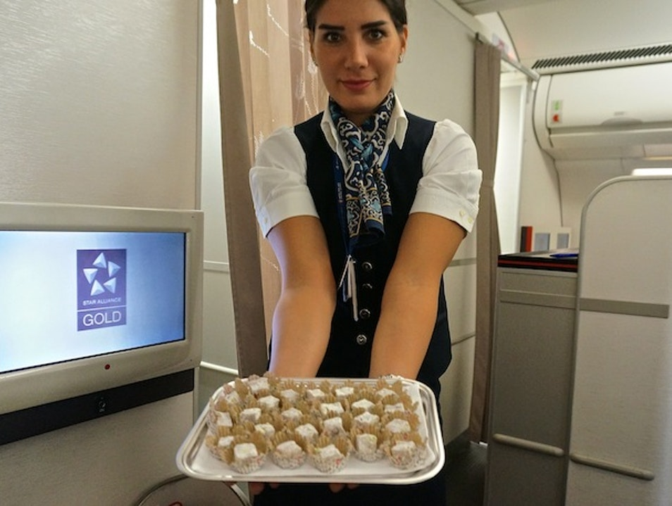 Turkish delight on board Turkish Airlines Istanbul  Turkey