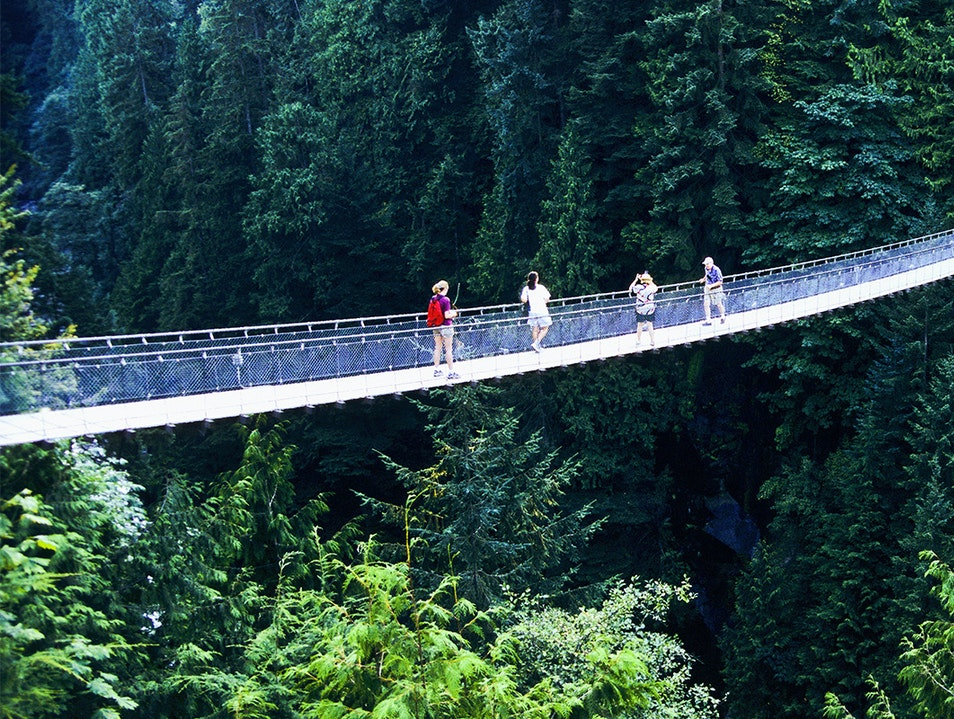 Capilano Suspension Bridge Park Vancouver  Canada