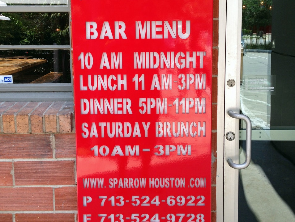 Eat at Sparrow Bar + Cookshop in Midtown Houston Texas United States