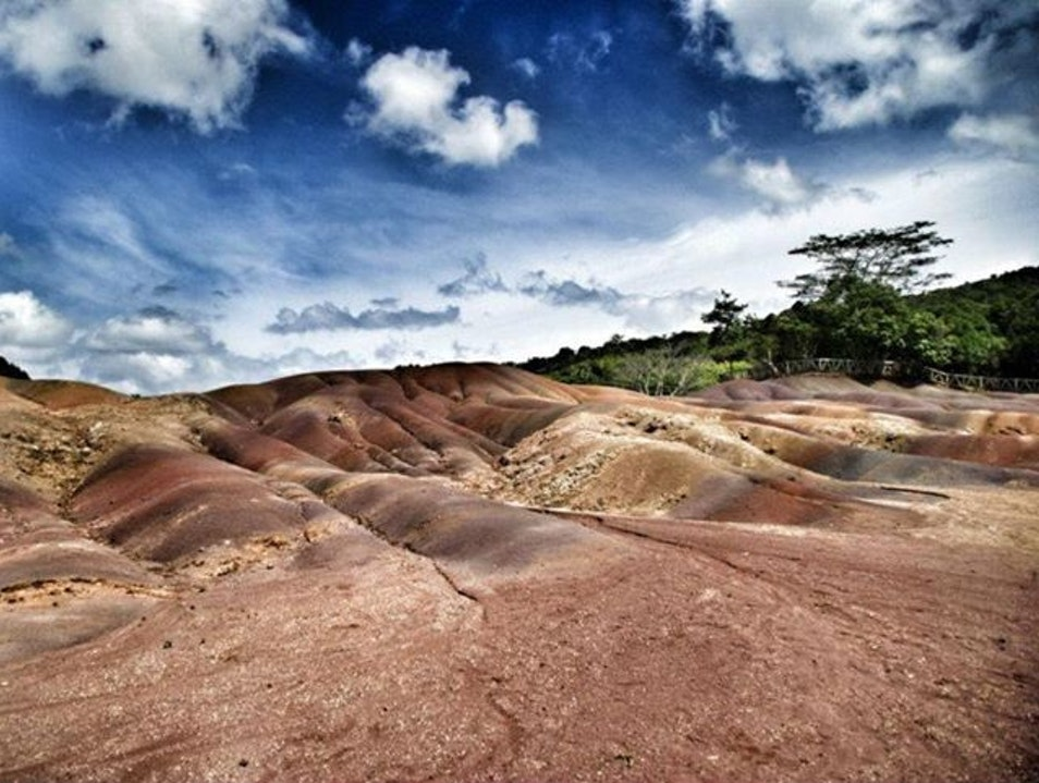 "Watch the Sun Rise over Chamarel's ""Seven-Colored Earth"" Chamarel  Mauritius"