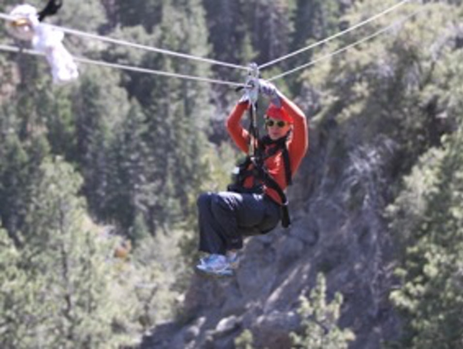Ziplines over the high desert Wrightwood California United States