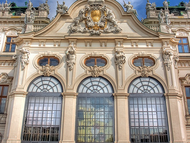 The front entry to Upper Belvedere