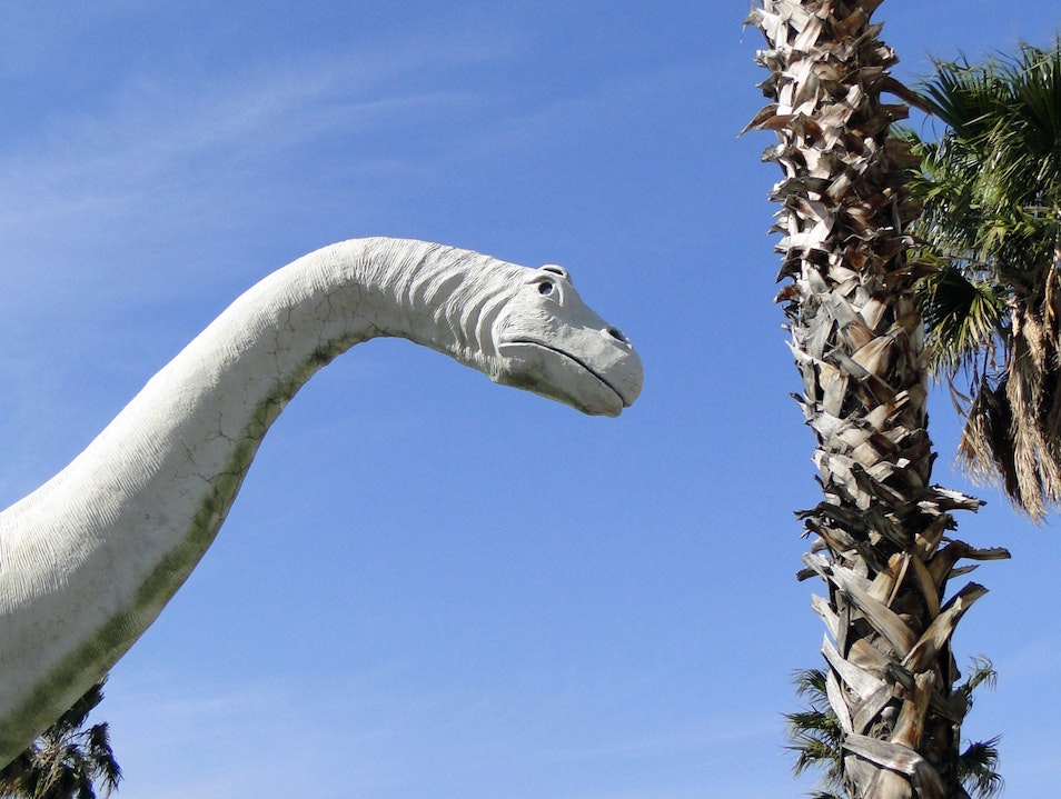 A Jurassic Driving Distraction in the Desert Cabazon California United States