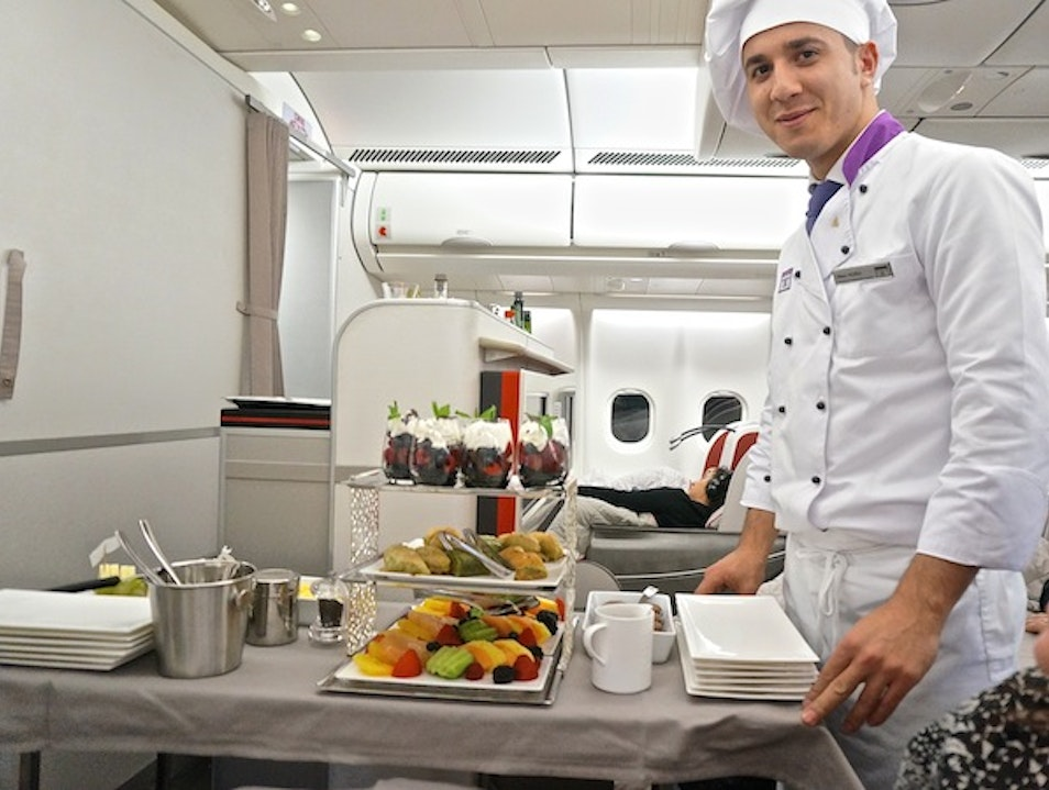 Flying chefs on Turkish Airlines