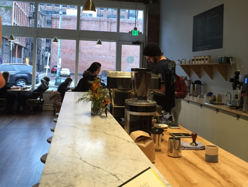 Afternoon Pick-me-up at Elm Coffee Roasters Seattle Washington United States