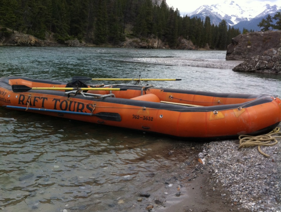 Float the Bow River Banff  Canada
