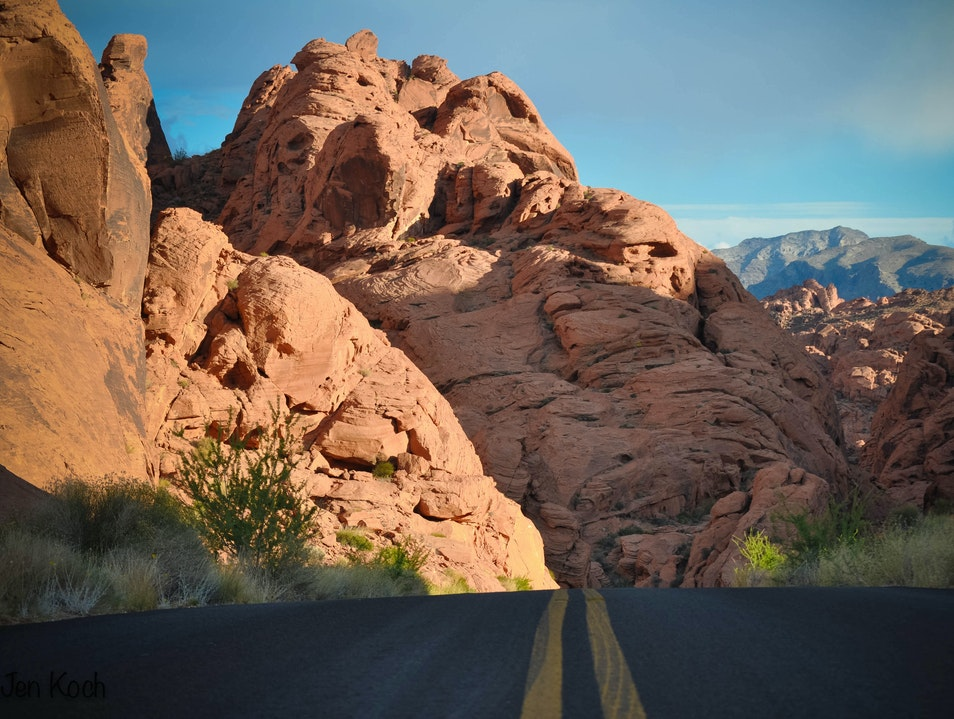 Driving through the Valley of Fire Clark County Nevada United States