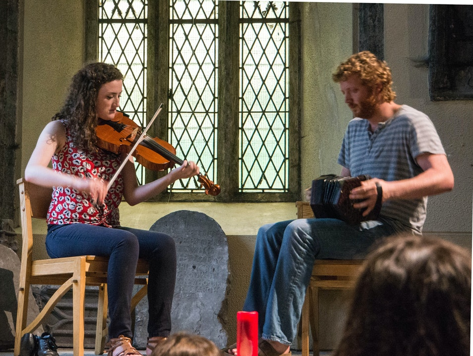 Traditional music in a church