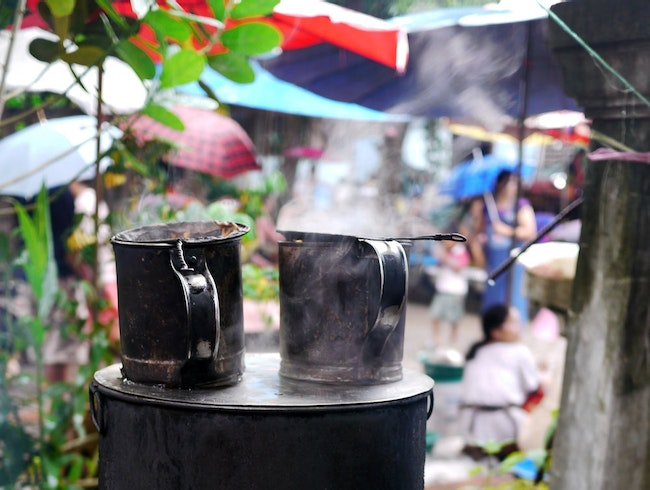 Coffee at the Morning Market