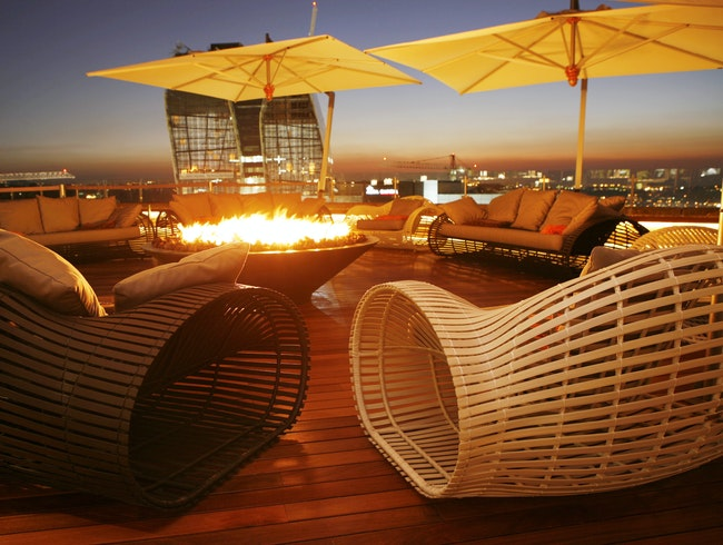 Sundowners on the Deck at the Sandton Sun