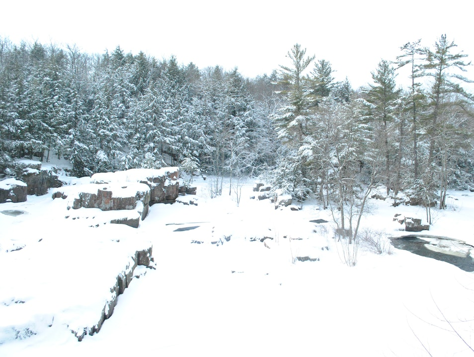 Wisconsin's (Overlooked) Winter Wonderland: Dells of Eau Claire County Park Aniwa Wisconsin United States