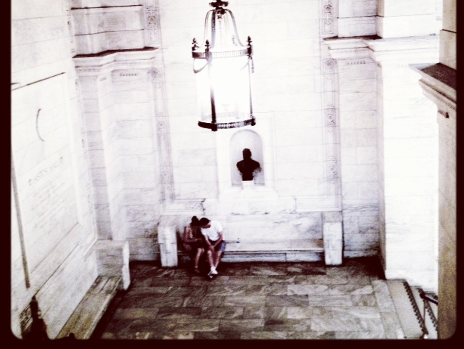A Stolen Moment at the New York Public Library  New York New York United States