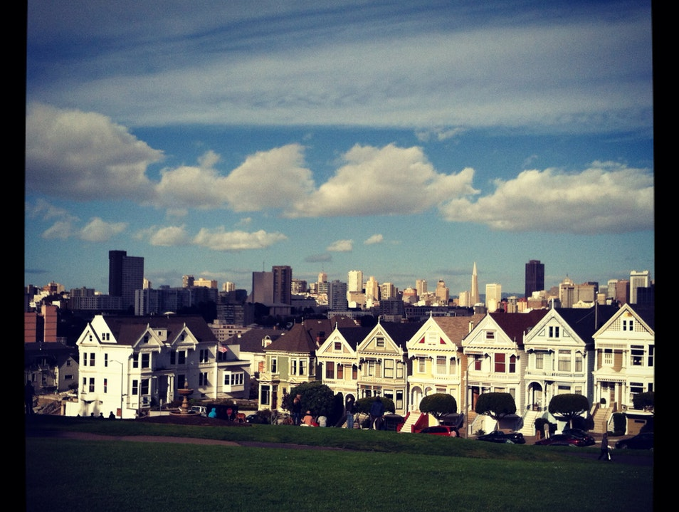 Alamo Square's Painted Ladies San Francisco California United States