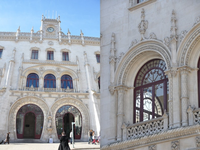 Catching a Train at Rossio