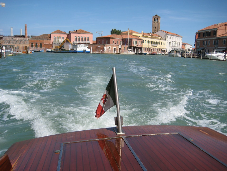 Water Taxi Ride into Venice Venice  Italy