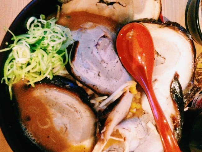 Authentic ramen amid the neon lights of Soho