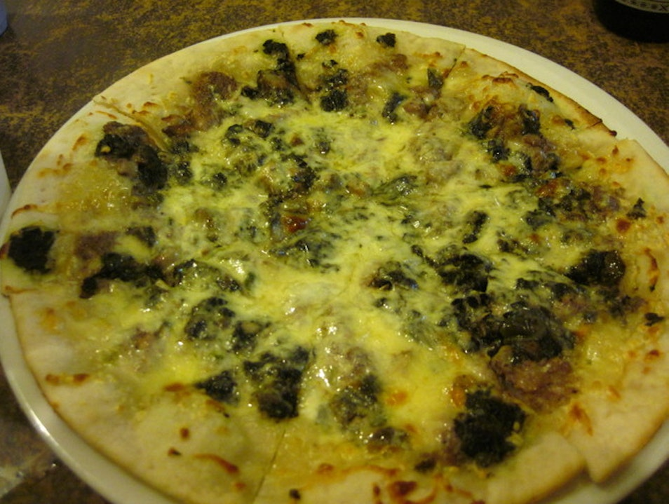 Laing Pizza:  A Fusion of Italy and Philippines Pili  Philippines